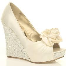 wedding shoes cork wedge wedding shoes ivory best ivory wedge bridal shoes photos 2017