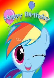 my pony birthday card rainbow dash birthday card postcard