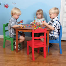 Kids Wood Table And Chair Set Tot Tutors Natural Wood Table And Chair Set Toys R Us Australia