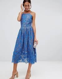 warehouse warehouse lace halter midi dress