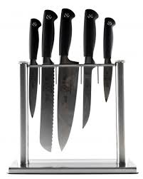 kitchen knives block set genesis collection 6 knife block set