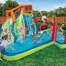 Pools For Backyards by Banzai Inflatable Aqua Sports Splash Pool And Slide Backyard Water