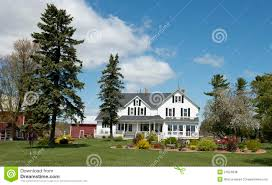 big farmhouse big rural country farmhouse wisconsin dairy farm stock photo