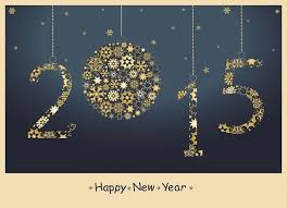 2015 glitter new year wishes cards with snowflakes new year