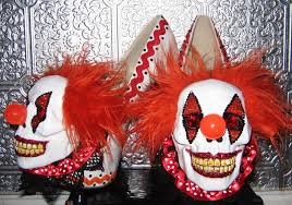 scary clown halloween mask evil skull clown heels with details and glittered soles