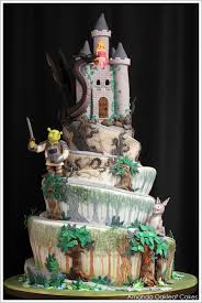 wedding cake castle dreamy castle cake
