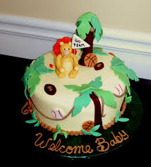 jungle sports themed baby shower cake the crafty cakery our