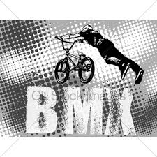 bmx stunt cyclist on the abstract background gl stock images