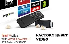 reset amazon fire tv stick to factory setting youtube