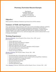 5 pharmacy technician resume synopsis format