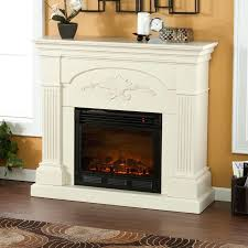 small white corner electric fireplace stove wall heater oak media