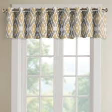 Chocolate Brown Valances For Windows Buy Yellow Valances For Windows From Bed Bath U0026 Beyond