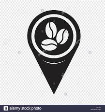 Map Pin Map Pin Pointer Coffee Beans Icon Stock Vector Art U0026 Illustration