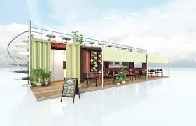 converted shipping container fast food restaurant cas
