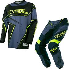 motocross gear set oneal element 2017 racewear motocross jersey u0026 pants black gray hi