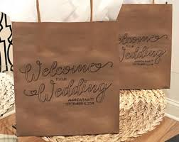 welcome to our wedding bags wedding welcome bags etsy