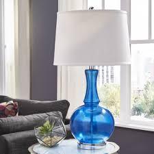 Blue Glass Table Lamp Safavieh Lighting 29 Inch Blue Bottle Glass Table Lamp Set Of 2
