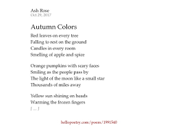 autumn colors ash rose poetry