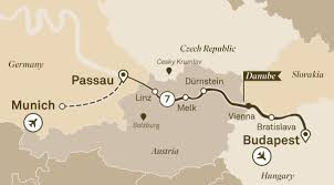 Passau Germany Map by Iconic Danube River Cruises Europe