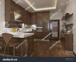 kitchen neoclassical style 3d images stock illustration 259988156