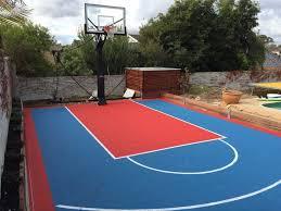 Sports Courts For Backyards Homes U0026 Backyards Msf Sports