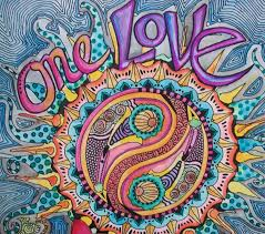 one love singleton art hippie art original love mandala zoom