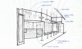 restaurant interior drawing easy entrancing creative interior new