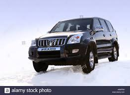 land cruiser prado car black toyota land cruiser prado 2006 on snow stock photo royalty