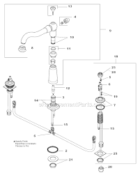 delta kitchen faucets parts delta faucet 2256 rblhp h216rb parts list and diagram