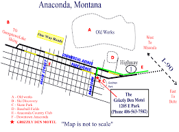 Map Of Montana Highways by The Grizzly Den Motel Anaconda Mt