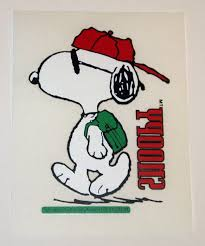 snoopy wearing backpack t shirt transfer collectpeanuts