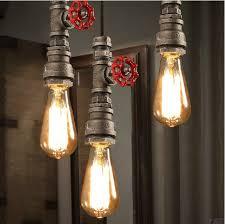 Steunk Light Fixtures Aliexpress Buy Retro Industrial Black Pipe Pendant Light