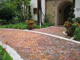 Backyard Pavers Cost by Clay Brick Pavers Driveway Pavers Orlando Florida Backyard