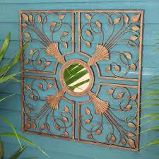 mirrored wall art uk shenra com kasbah metal mirror wall art by garden selections