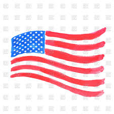 Us Flag Vector Free Download Wavy Usa Flag Made Of Watercolor Brushstrokes Royalty Free Vector