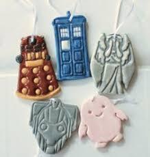 doctor who adipose handpainted salt dough ornament
