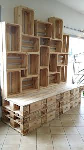 bedroom shelves pallet shelves eclectic bedroom photo in pallet shelves pinterest