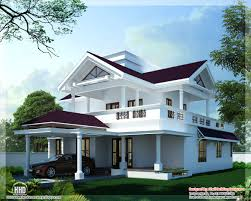 modern sloping roof home design kerala floor plans building