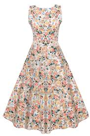 vogvog 1950 u0027s floral spring garden party picnic dress party