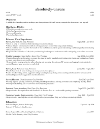 basic resume objective for a part time job part time job resume carbon materialwitness co