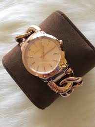 rose gold stainless steel bracelet images Michael kors women 39 s watch elena rose gold stainless steel chain jpg