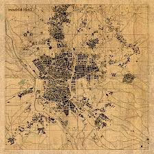 madrid spain map map of madrid spain vintage map schematic circa 1943 on