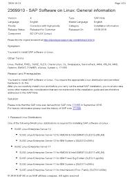 2369910 sap software on linux general information linux