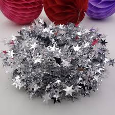 aliexpress com buy metallic star tinsel garland wire die cut