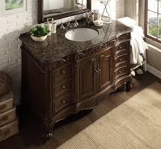 Elegant Bathroom Vanities by Adelina 48 Inch Classic Old Look Bathroom Vanity Sierra Brown