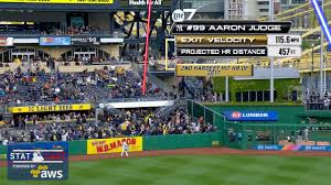 yankee stadium home run lights aaron judge smashed a towering home run and received some hall of