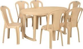 neelkamal dining table nilkamal grand oval plastic 6 seater dining set price in india