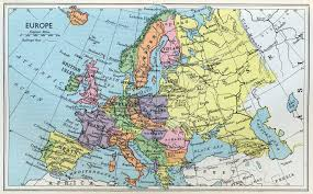 Physical Europe Map by Historical Maps By Chapter