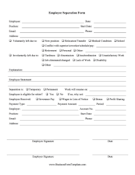 free resume download and print when an employee resigns retires is laid off or is fired