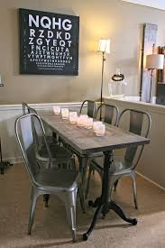 narrow dining room tables reclaimed wood dining table and benches made out of metal and reclaimed wood for